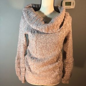 Sleeping on snow cowl neck sweater small